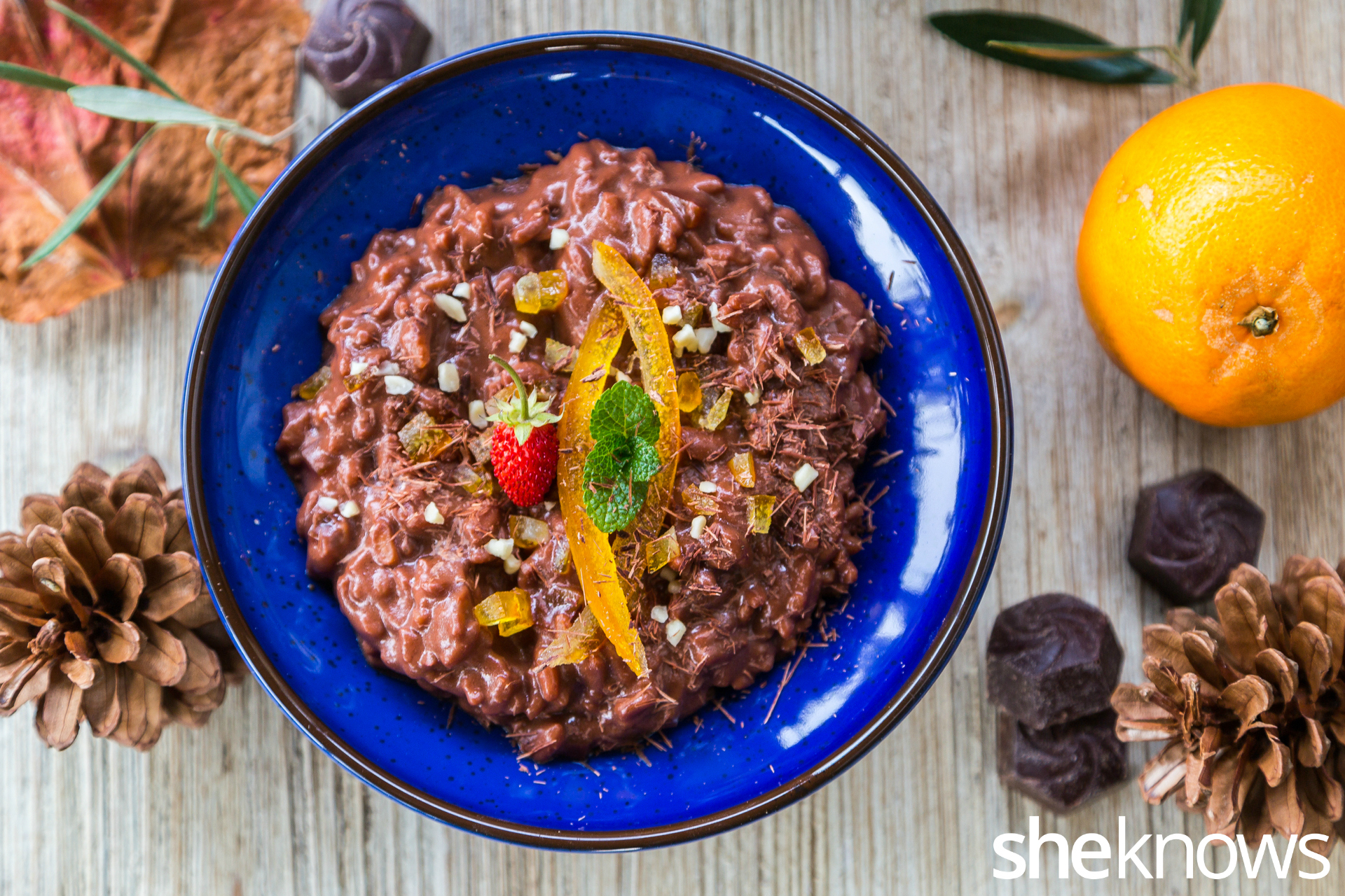 Dark-chocolate-rice-pudding-with-orange-peel