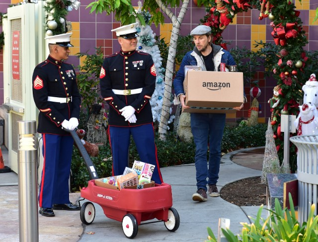 Dax Shepard for Amazon and Toys for Tots