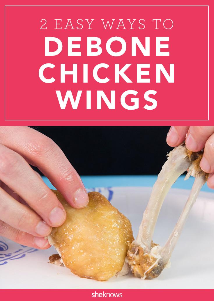 how to debone chicken wings