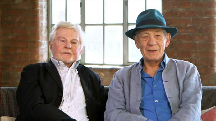 Ian McKellen and Derek Jacobi celebrate