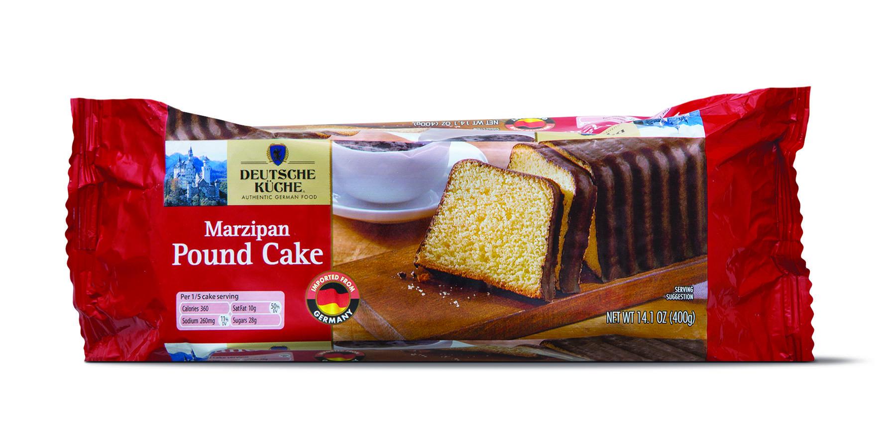 marzipan chocolate pound cake