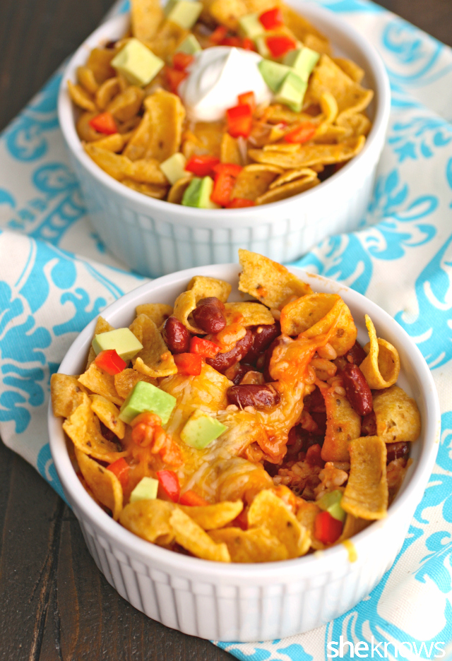 Dig in! You'll love these meatless, personal Fritos pot pies!