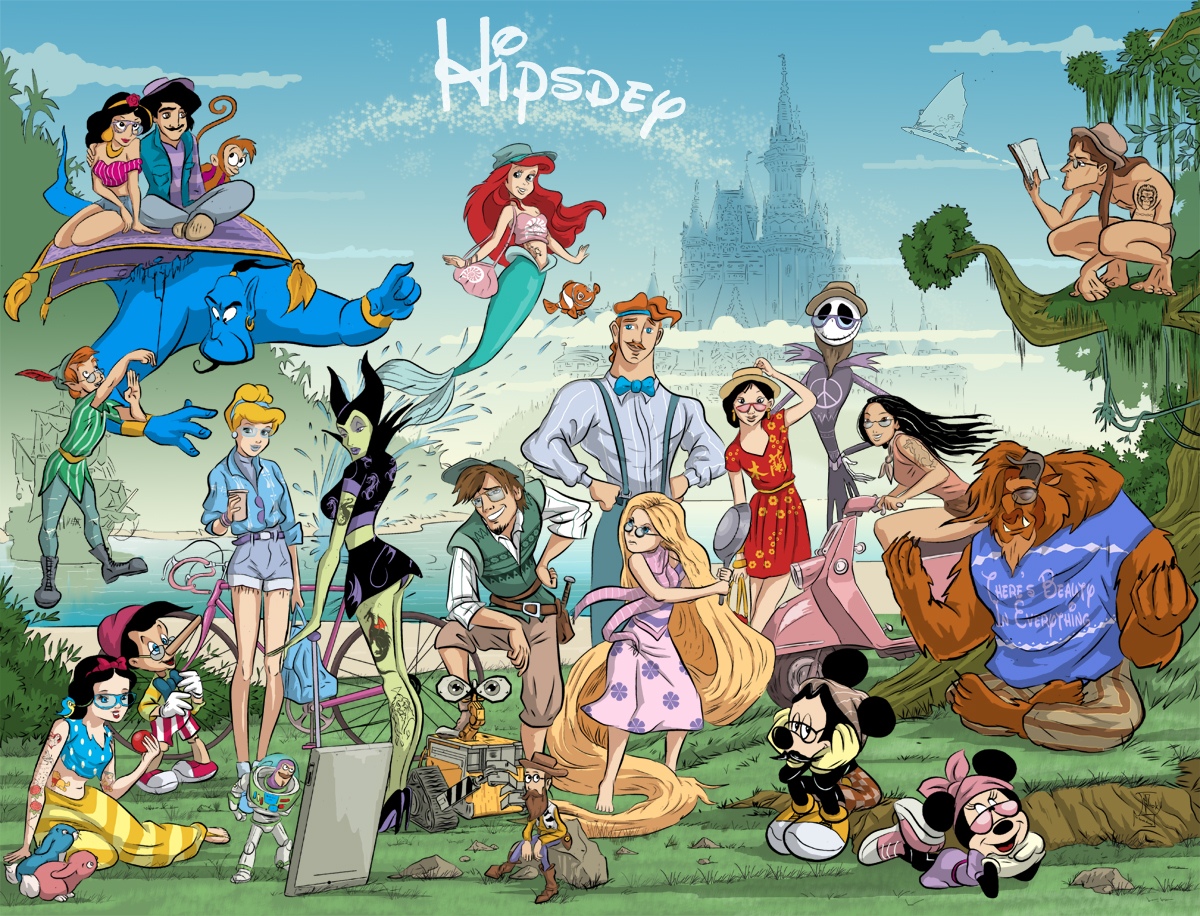 Disney hipsters group