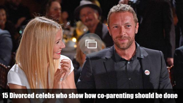 Co-parenting divorced celebs