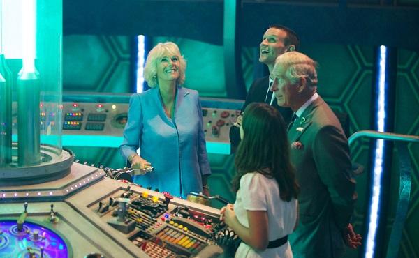 Prince Charles visits Doctor Who