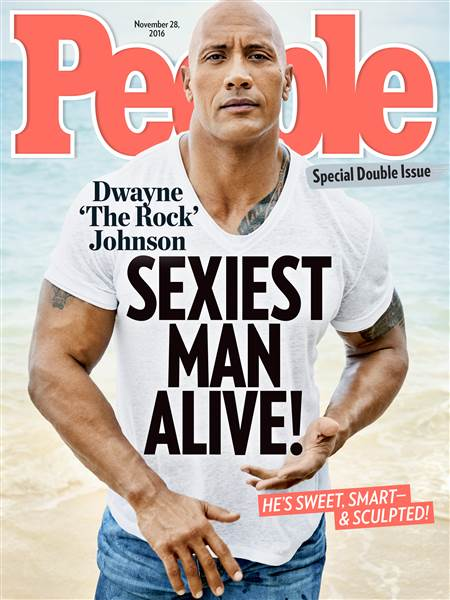 Dwayne Johnson People cover