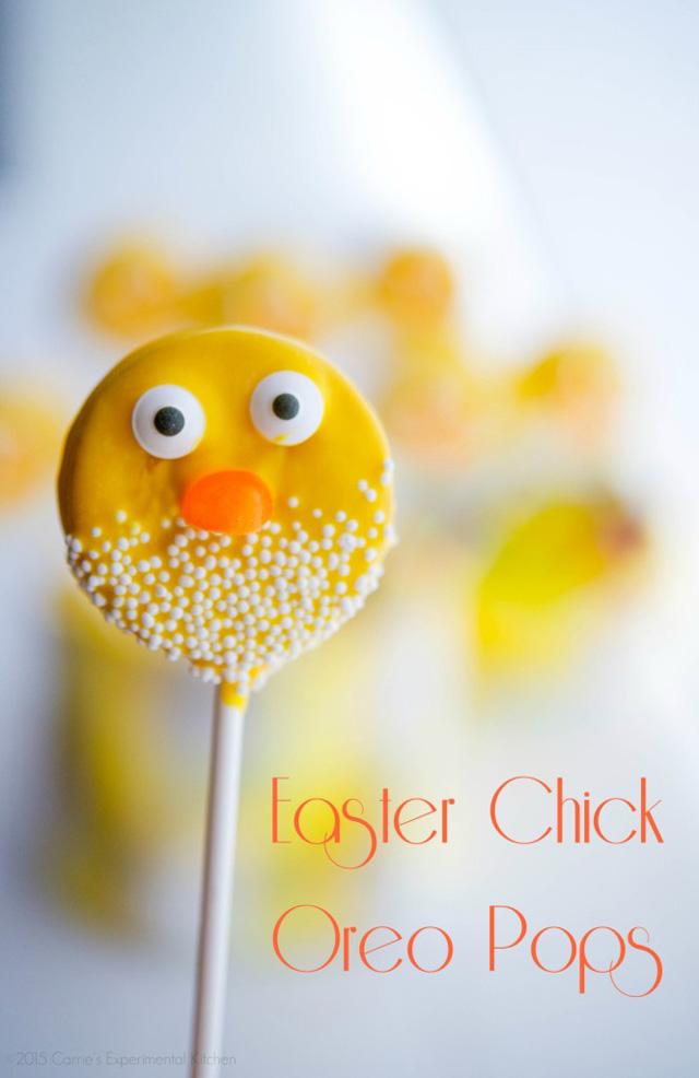 easter chick oreo pops