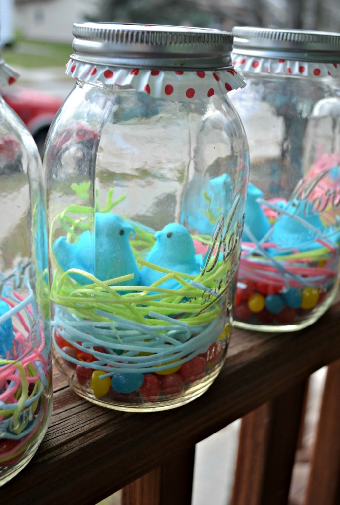 Easter mason jar craft by The Domestic Geek