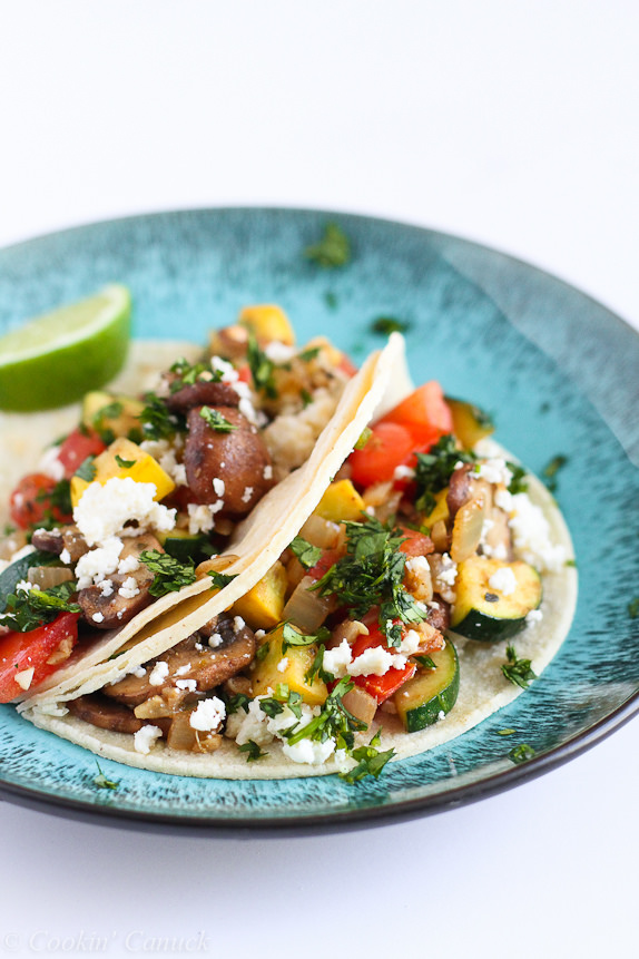 Easy vegetable soft tacos