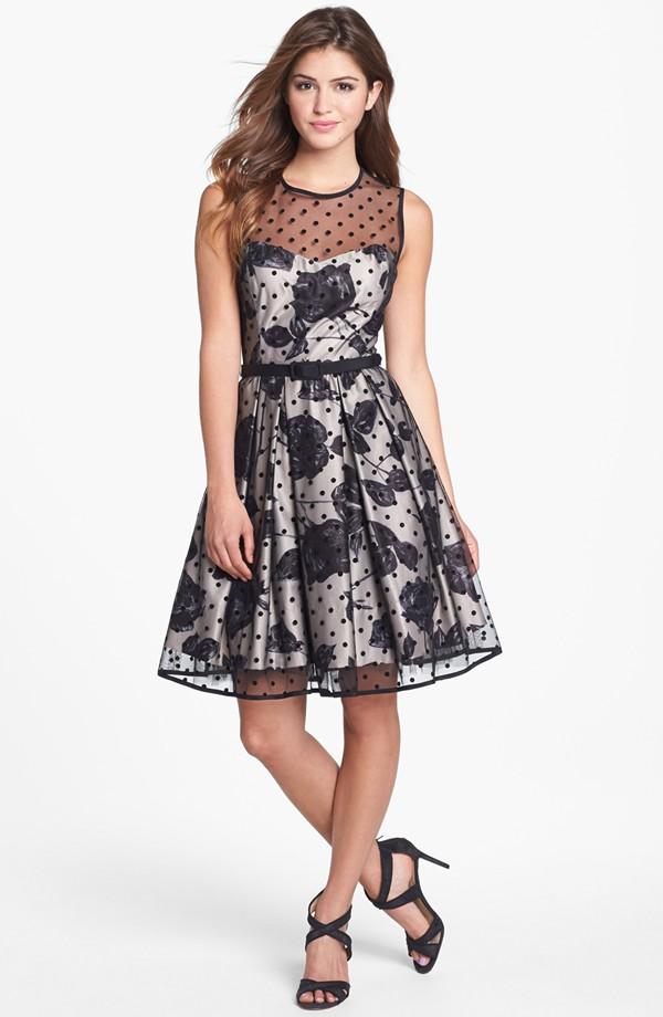 Eliza J Illusion Print Dress
