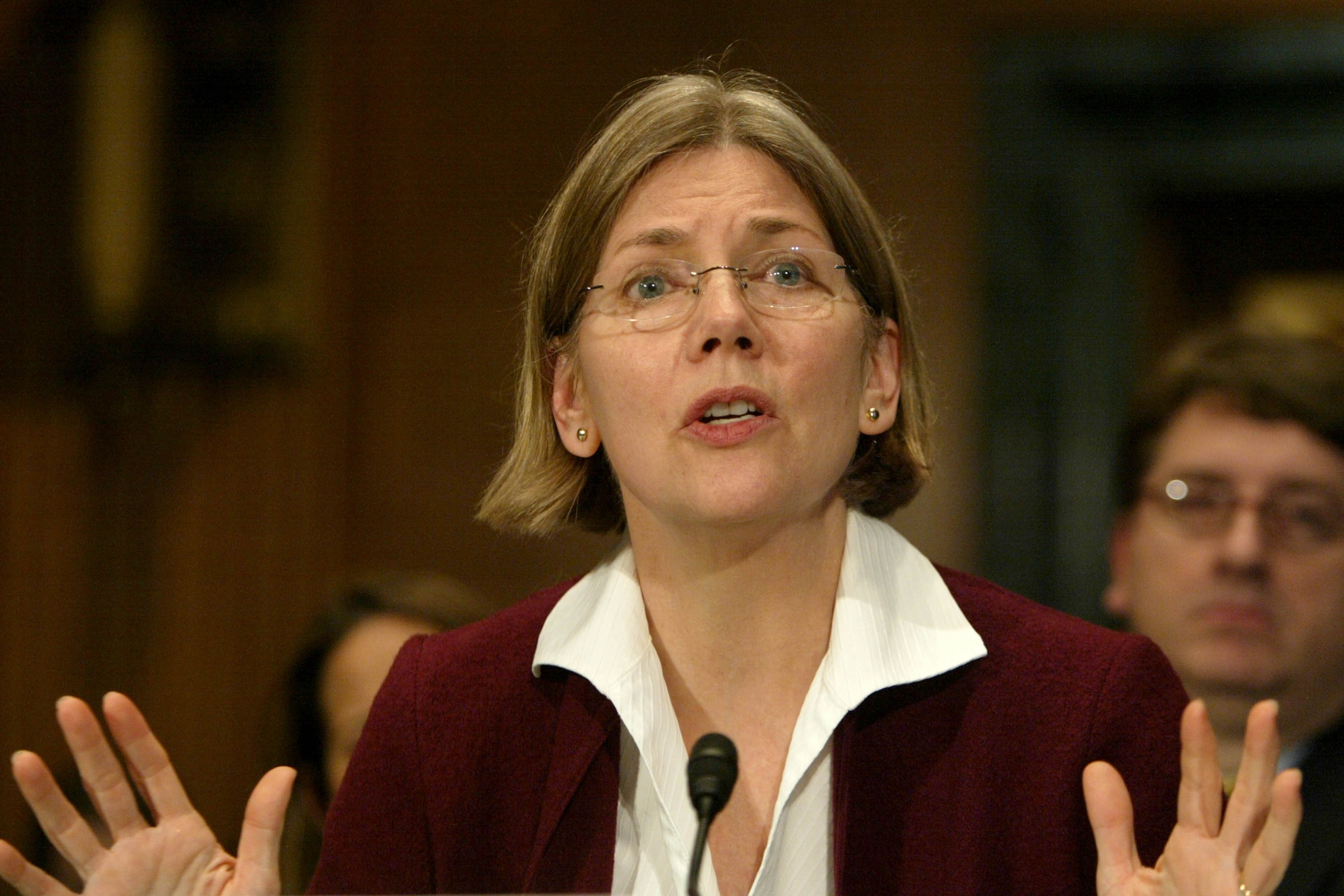 Elizabeth Warren testifies before the Federal Bankruptcy Commission