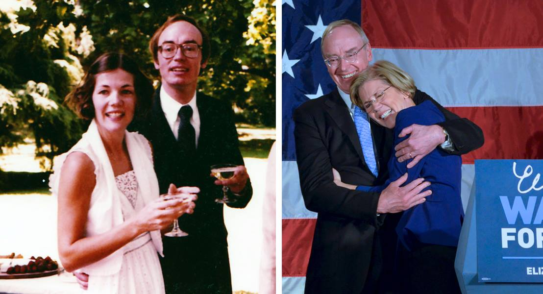 Elizabeth Warren and second husband Bruce Mann celebrate 30 years