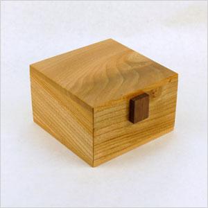 Elm wood keepsake box