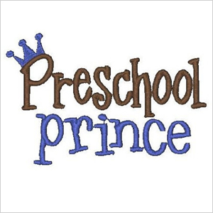 Preschool prince shirt