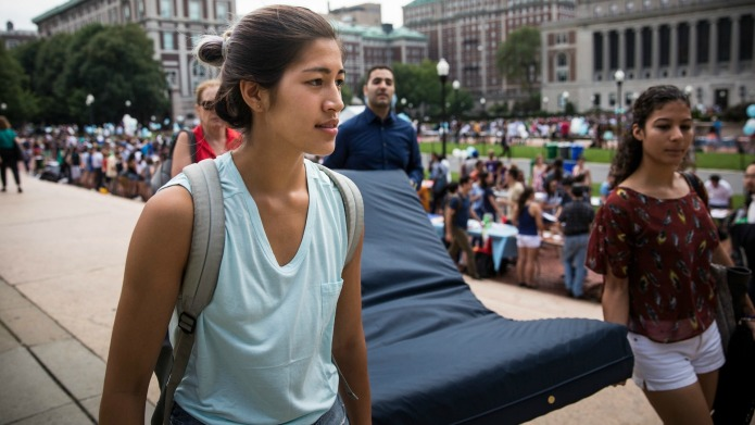 We can't forget Emma Sulkowicz, Columbia