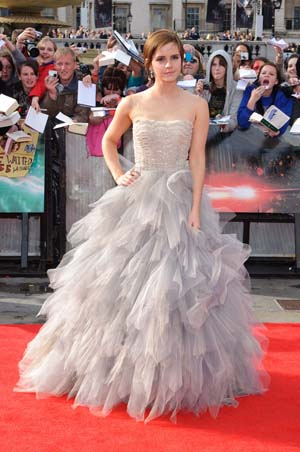 Emma Watson at the London premiere of Harry Potter and the Deathly Hallows Part 2