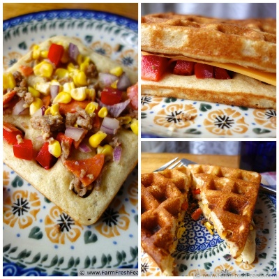 Sweet or Savory Yeasted Waffle Sandwiches