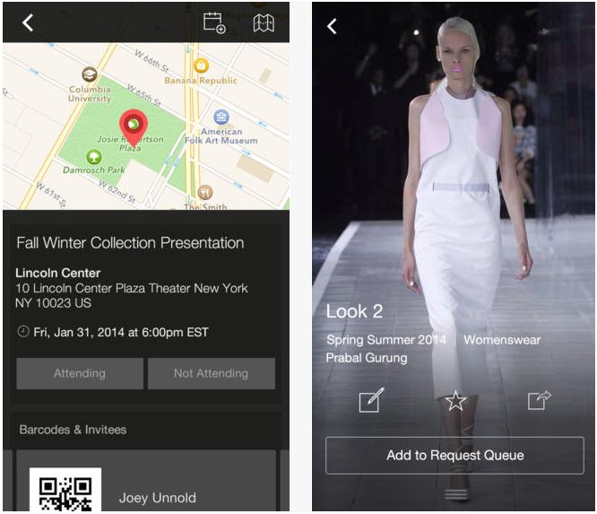 Fashion rader app