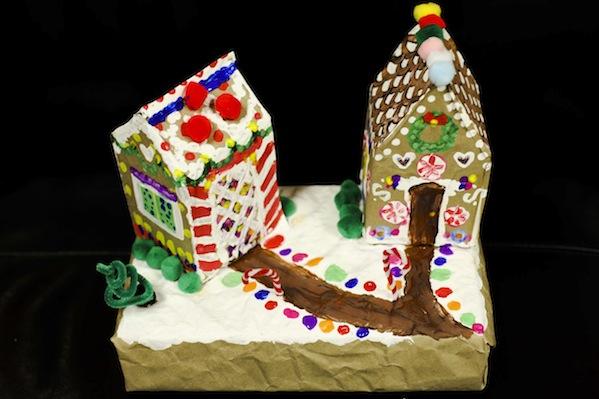 Non-edible gingerbread house