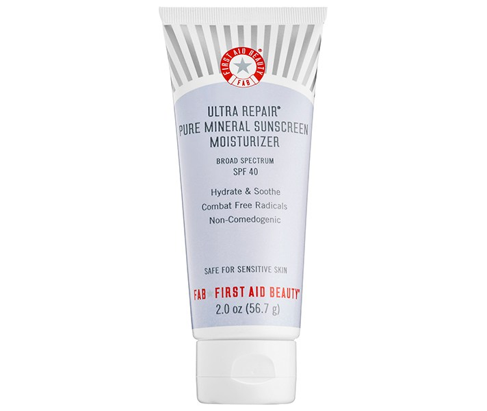 First Aid Beauty Ultra Repair Pure Mineral Sunscreen Moisturizer Broad Spectrum