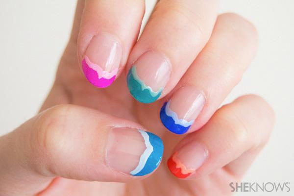 Fish tail frech manicure   SheKnows.com