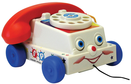Rotary-dial play phone