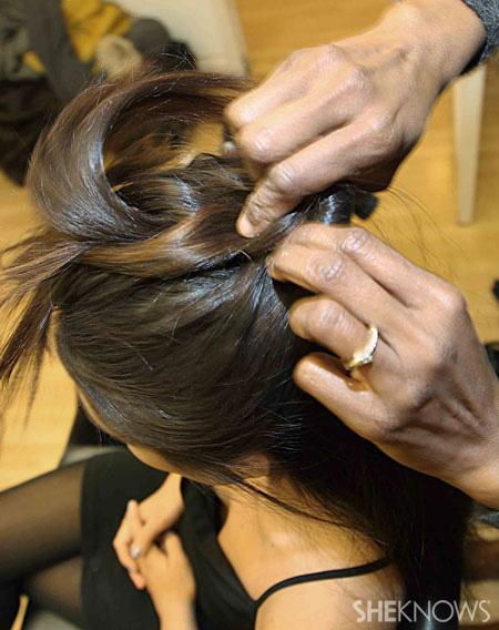 Fishtail braid step 3
