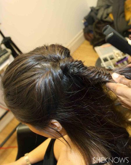 Fishtail braid step 4