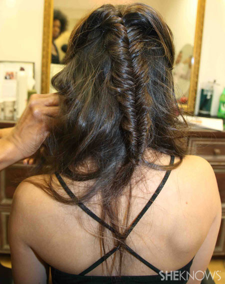 Fishtail braid step 5