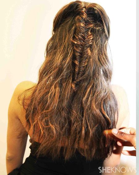 Fishtail braid step 6