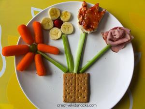 Flower pot snack