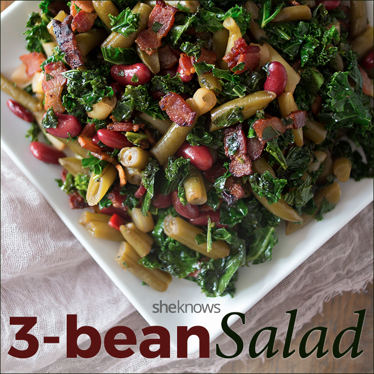 3-Bean salad gets revamped with crispy bacon and sautéed