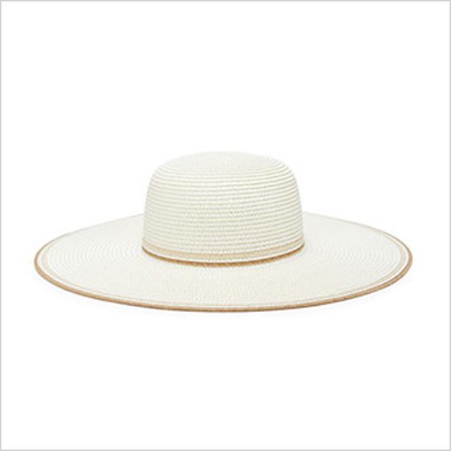 Forever 21 Striped Floppy Straw Hat