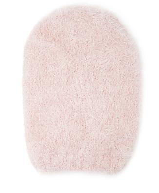 pink eyelash beanie