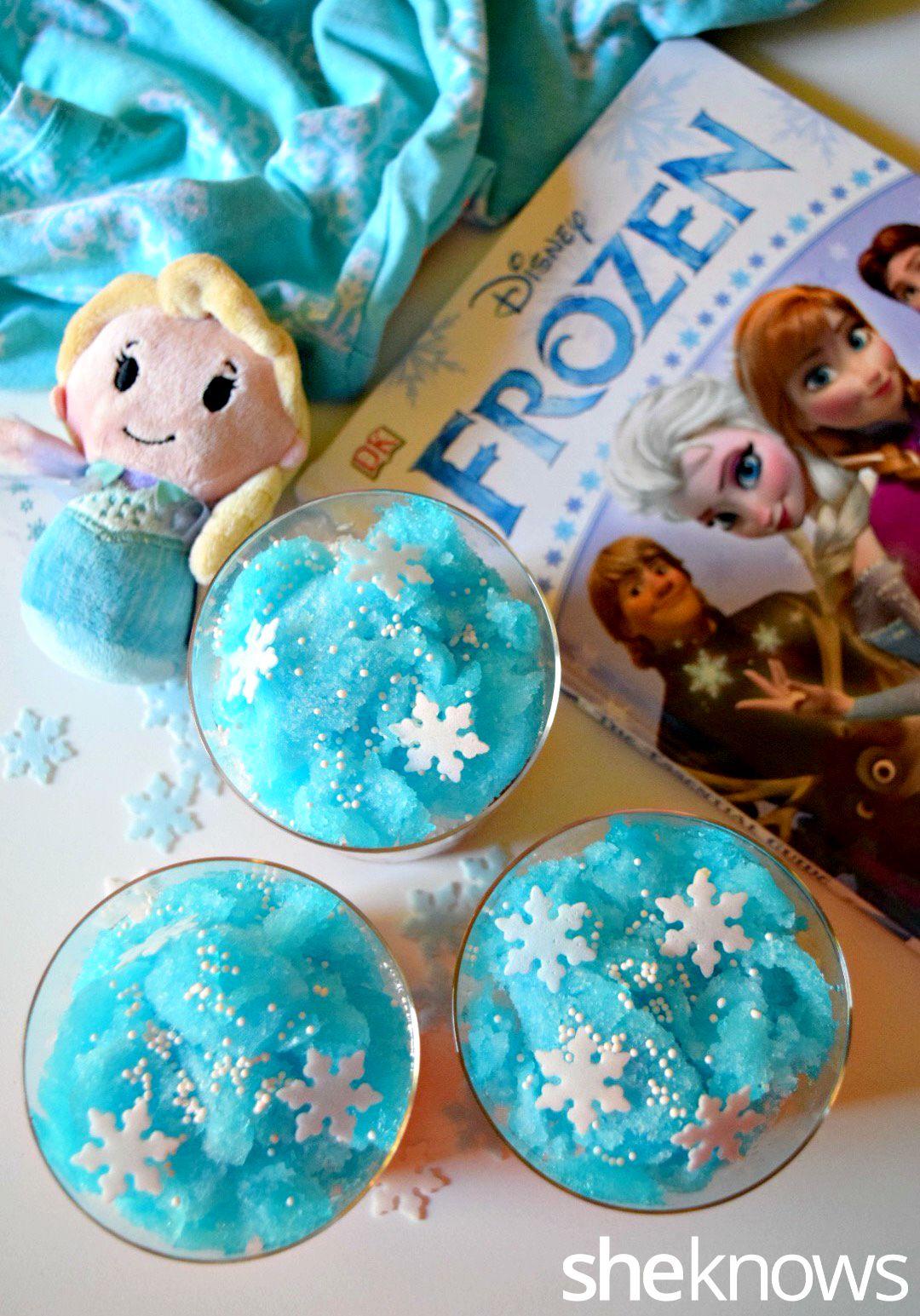 Frozen themed slushies