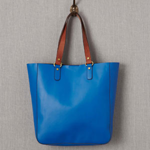 Bold leather shopper
