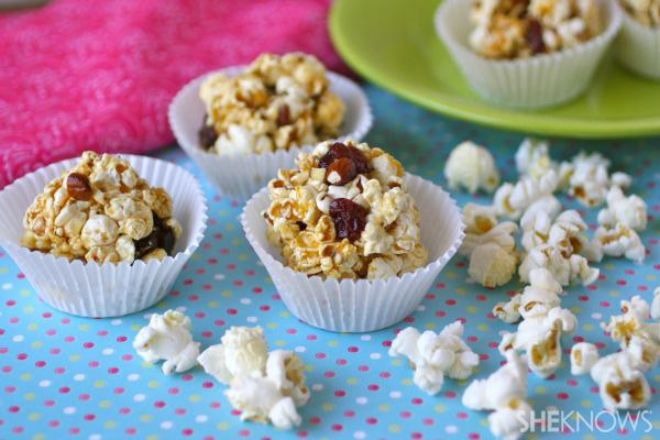 Cherry-almond popcorn balls
