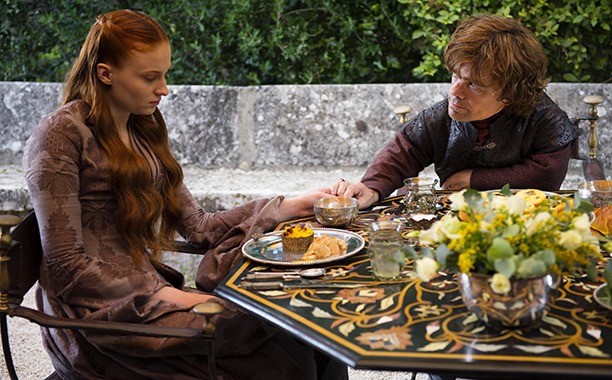 Sansa and Tyrion in Game of Thrones