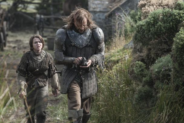 The Hound and Aria in Game of Thrones