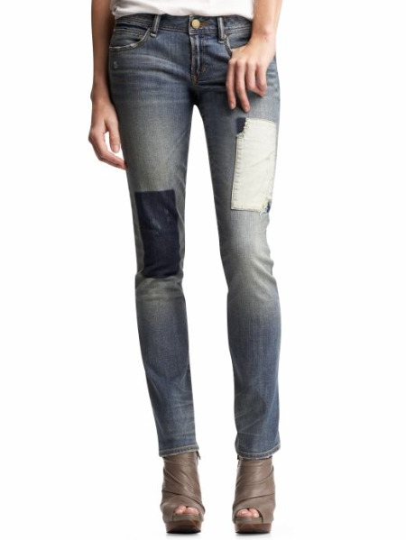 Gap patched jeans