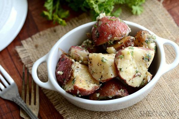 Roasted red potato & parsley salad