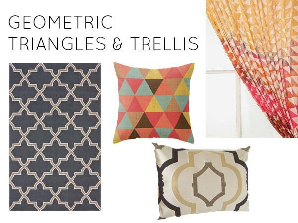 Geometric triangles and trellis
