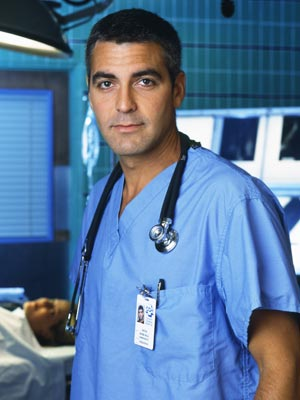 George Clooney in his scrubbing days on ER