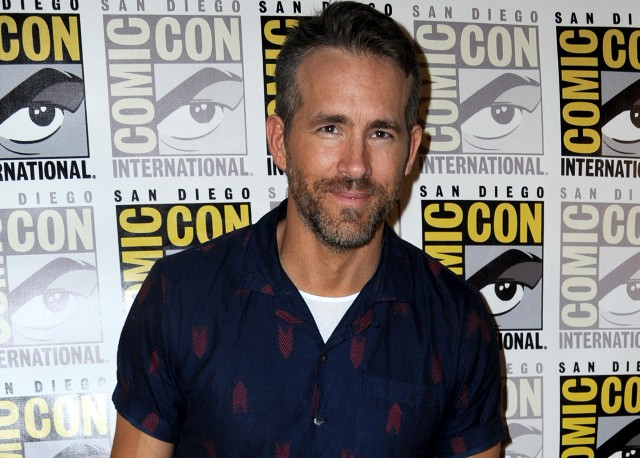 Ryan Reynolds speaks onstage at the 'Deadpool 2' panel during Comic-Con International 2018