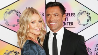 Kelly Ripa and Mark Consuelos arrive