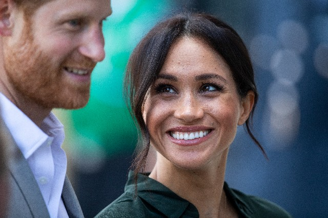 Prince Harry, Duke of Sussex and Meghan, Duchess of Sussex arrive at the University of Chichester's Engineering and Digital Technology Park