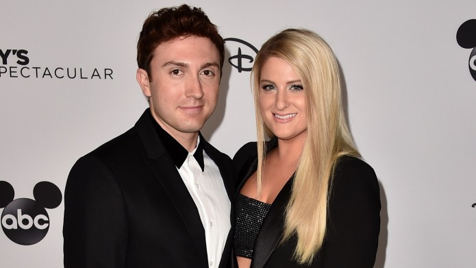 Daryl Sabara and Meghan Trainor attend