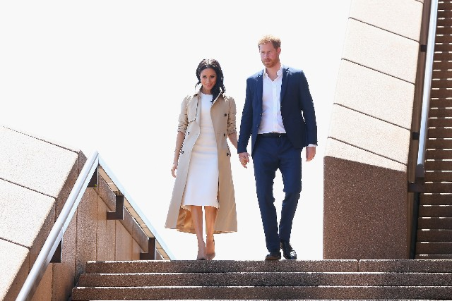 Prince Harry, Duke of Sussex and Meghan, Duchess of Sussex meet the public at the Sydney Opera House