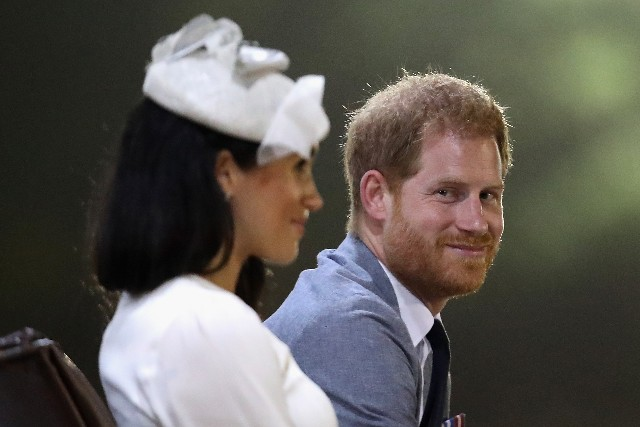 Prince Harry, Duke of Sussex and Meghan, Duchess of Sussex attends a welcome ceremony in Albert Park