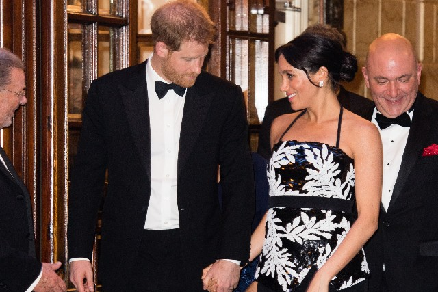 Meghan, Duchess of Sussex and Prince Harry, Duke of Sussex attend The Royal Variety Performance 2018